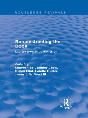 cover image of Re-Constructing the Book