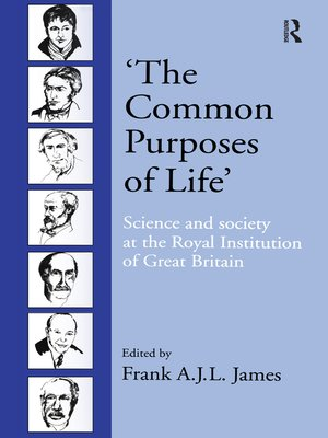 cover image of 'The Common Purposes of Life'
