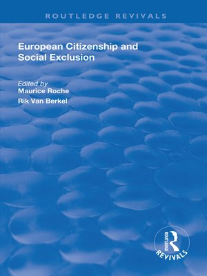 cover image of European Citizenship and Social Exclusion