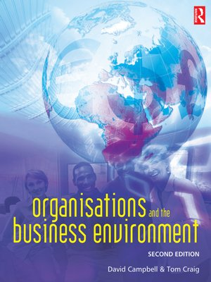 cover image of Organisations and the Business Environment