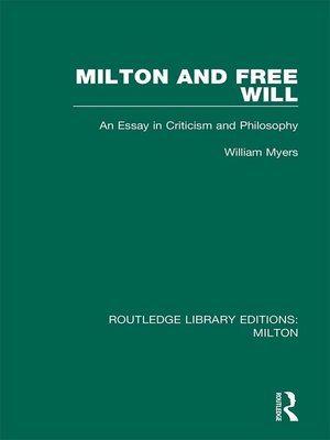 cover image of Milton and Free Will