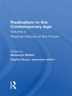 cover image of Radicalism In the Contemporary Age, Volume 2