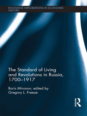 cover image of The Standard of Living and Revolutions in Imperial Russia, 1700-1917