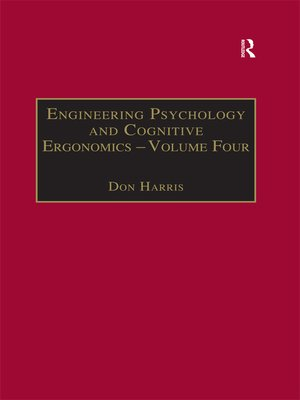 cover image of Engineering Psychology and Cognitive Ergonomics