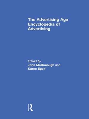 cover image of The Advertising Age Encyclopedia of Advertising