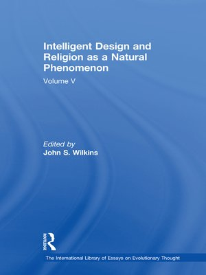 cover image of Intelligent Design and Religion as a Natural Phenomenon