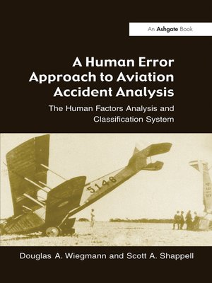 cover image of A Human Error Approach to Aviation Accident Analysis