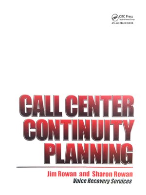cover image of Call Center Continuity Planning