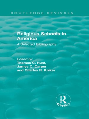 cover image of Religious Schools in America (1986)