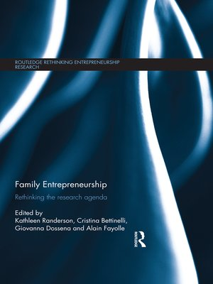 cover image of Family Entrepreneurship