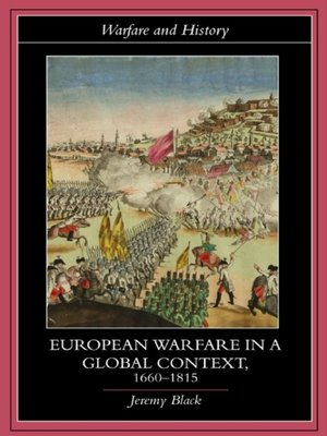 cover image of European Warfare in a Global Context, 1660-1815