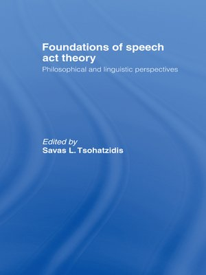cover image of Foundations of Speech Act Theory
