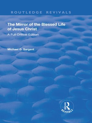 cover image of The Mirror of the Blessed Life of Jesus Christ