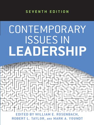 cover image of Contemporary Issues in Leadership