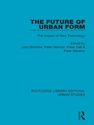 cover image of The Future of Urban Form