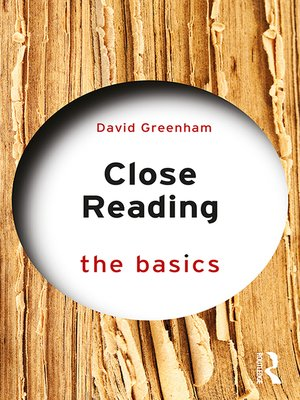 cover image of Close Reading