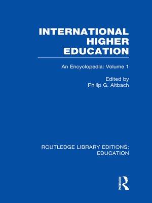 cover image of International Higher Education Volume 1