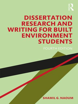 cover image of Dissertation Research and Writing for Built Environment Students