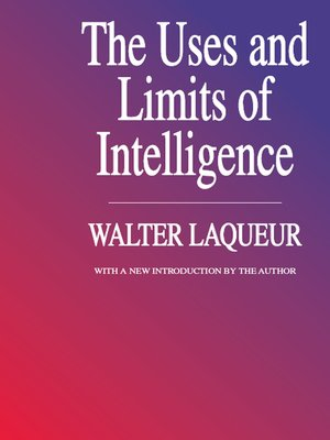 cover image of The Uses and Limits of Intelligence