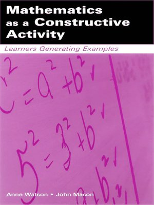 cover image of Mathematics as a Constructive Activity