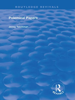 cover image of Polemical Papers