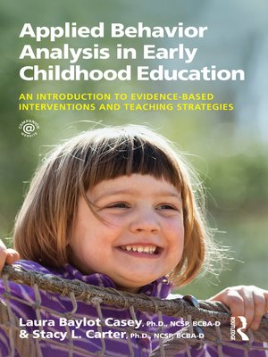 cover image of Applied Behavior Analysis in Early Childhood Education