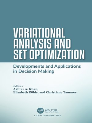 cover image of Variational Analysis and Set Optimization