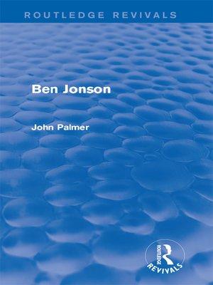cover image of Ben Jonson