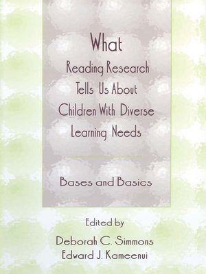 cover image of What Reading Research Tells Us About Children With Diverse Learning Needs