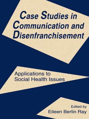 cover image of Case Studies in Communication and Disenfranchisement