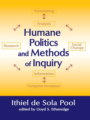 cover image of Humane Politics and Methods of Inquiry