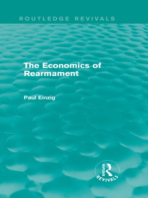 cover image of The Economics of Rearmament (Rev)