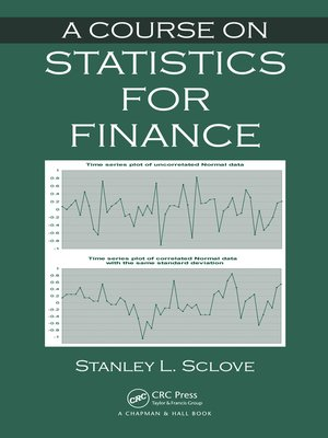 cover image of A Course on Statistics for Finance