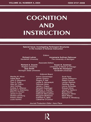 cover image of Investigating Participant Structures in the Context of Science Instruction
