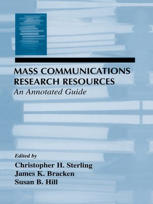cover image of Mass Communications Research Resources