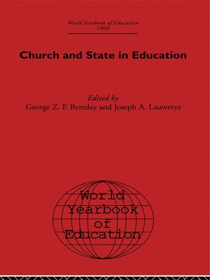 cover image of World Yearbook of Education 1966