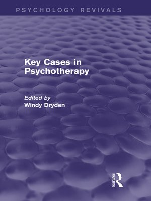 cover image of Key Cases in Psychotherapy (Psychology Revivals)