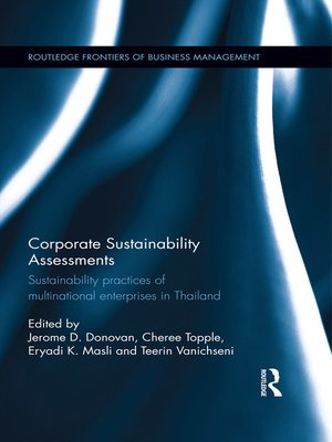cover image of Corporate Sustainability Assessments