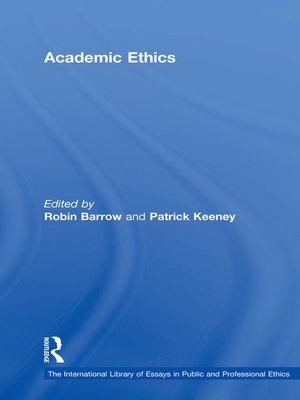 cover image of Academic Ethics