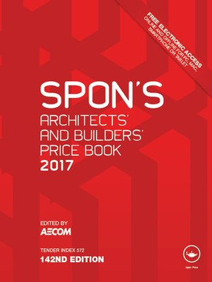 cover image of Spon's Architects' and Builders' Price Book 2017