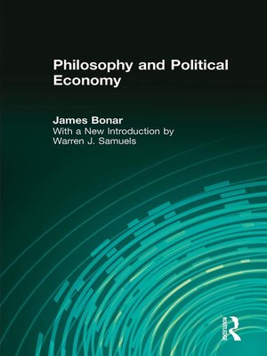 cover image of Philosophy and Political Economy