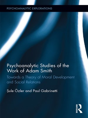 cover image of Psychoanalytic Studies of the Work of Adam Smith