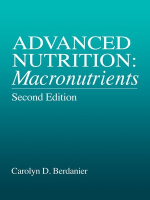 cover image of Advanced Nutrition