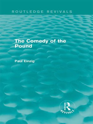 cover image of The Comedy of the Pound (Rev)