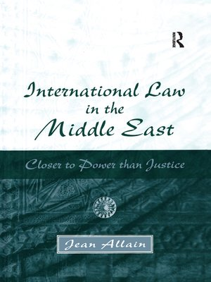 cover image of International Law in the Middle East