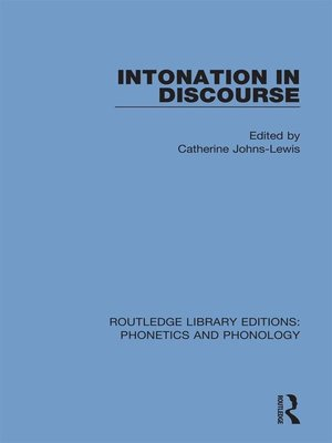 cover image of Intonation in Discourse