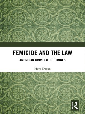 cover image of Femicide and the Law