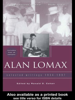 cover image of Alan Lomax