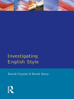 cover image of Investigating English Style