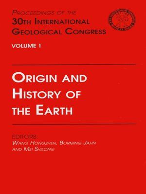 cover image of Origin and History of the Earth